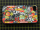 Stickerbomb sticker bomb printed phone case cover iphone 4 4s 5 5s 5C 6