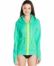 Body Glove Womens Forecast Live It Up Jacket Hoodie Cover-up Size Medium 36""