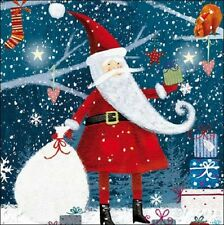 Pack of 5 Father Christmas ChildLine Charity Christmas Cards Xmas Card Packs
