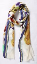 New Shawl Stole Scarf Hijab Summer Wrap Multi Blue Vintage Abstract Beach Summer