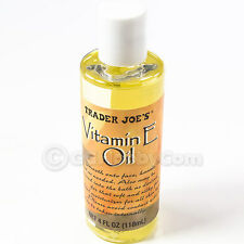 Vitamin E Oil 24000 IU Trader Joe's Moisturizer Softens Body Dry Skin 4 FL OZ