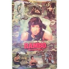 Rambo: First Blood Part II Movie Collage Photo Poster NEW ROLLED