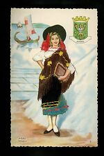 Embroidered clothing postcard  Portugal Aveiro woman #7