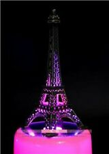 LED LIGHT PINK EIFFEL TOWER WITH CIRCLE ROTATION MUSIC BOX : FUR ELISE