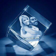 Christmas 3D Laser Crystal Personalized Engrave Gift Large Diamond Shape