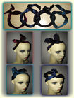 Wired Head Band,Velvet Headwrap - Wire Hair Band, 4 Colours, Bendy Hairband