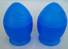 SET OF TWO Microwave Egg Cooker Poacher Scramble Eggs SOFT MEDIUM BENEDICT