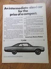 1969 American Motors Rambler Rebel 4 Coupe Ad $2496