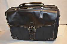Bellino Genuine Leather Black Messenger Computer Laptop Bag Made for INAMED