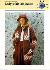 LADY'S FAIR ISLE JACKET knitting pattern - Odhams pamphlet