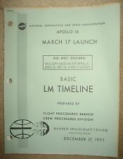 Apollo 16 - Official NASA Lunar Module Timeline Manual Plus Updates