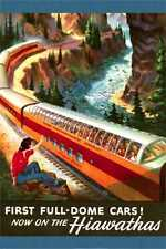 First Full Dome Cars on the Hiawathas The Milwaukee Road Line vintage fine art
