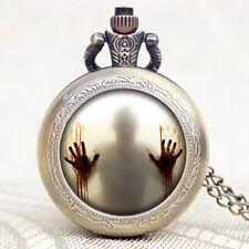 Reloj de bolsillo The Walking Dead Aterrador manos figura gran venta alguna vez Bronce Cuarzo