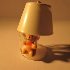 Table Lamp ~ with FIGURE of a Bear ~ REDUCED ~ Dollhouse Miniature ~ 1/12th