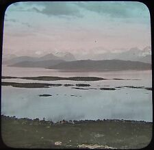 Glass Magic Lantern Slide MOLDE FROM THE VARDE C1890 WESTERN NORWAY PHOTO