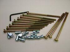 Lit/cot bolts 12 sets of M6 x 115mm boulon, allen clés & 20mm baril écrou = 25 objets