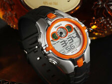 OHSEN 7 color LED FlashLight Sport Digital Orange Child Boy Girl Quartz Watches
