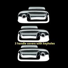 03-15 GMC Savana Van 03-15 Chevy Express VAN Chrome 3 Door Handle Door Covers