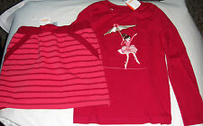 Gymboree Star of the Show ballerina tight rope top & pink skort skirt NWT 8