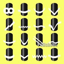 16Sheets/Set French Manicure Nail Tip Guides Stickers Strip Nail Art Decoration