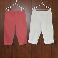 "2 Women's 30"" Waist Capri Pants, St. John's Bay and Casual Corner, Very Nice!"