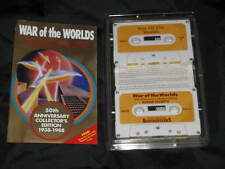 Radio Collectible WAR the WORLDS 50th Anniversary Edition 1988 Cassette Wells