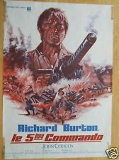 AFFICHE - LE 5eme COMMANDO - RICHARD BURTON 1971