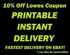 Two (2x) Lowes-Coupon good for 10% off your In-Store purchase - Printable Email