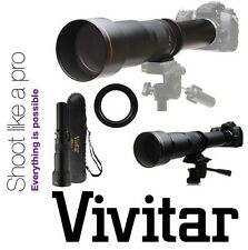 Vivitar HD 650-1300mm Super Telephoto Lens For Canon EOS 1Dx 7D Mark II 6D 5Ds