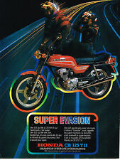 PUBLICITE ADVERTISING 025  1978  HONDA  moto  CB 125 T II SUPER EVASION