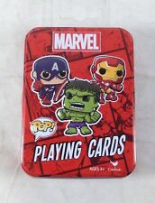 Funko Pop Marvel Playing Cards Embossed Tin Original Exclusive Collector Premium