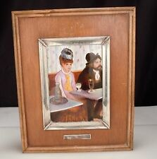 Vintage DEGAS Painting in Enamel with Silver & Wood Frame