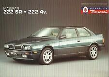 Maserati 222 SR & 222 4v UK Market A4 Specification Sheet 1990-1994