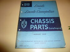 1949 Lincoln & Lincoln Cosmopolitan Chassis Parts Catalogue - 3642-49