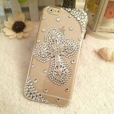 3D Handmade Luxury Bling Diamonds Rhinestone Jewelled Crystal Clear Case Cover