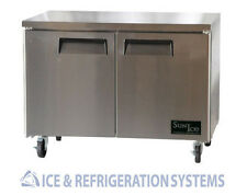 "SUN ICE 48"" COMMERCIAL UNDERCOUNTER WORKT0P REACH IN REFRIGERATOR COOLER SUNUR48"