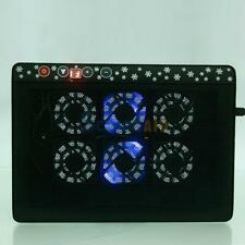 """10""""-17"""" Laptop Notebook LED 6 Fan 2 USB Port Anti-Slip Cooling Cooler Pad Stand"""