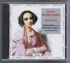 FANNY MENDELSSOHN CD NEW LIEDER & TRIO  DONNA BROWN TRIO BRENTANO