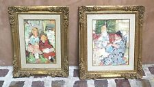MAGNIFICENT PAIR OF FRENCH O/C PAINTING BY RENE SINICKI LISTED ARTIST