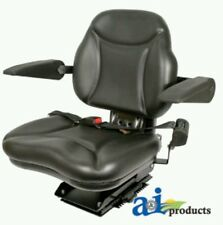 Big Boy Suspension Tractor Seat with Armrests -Black