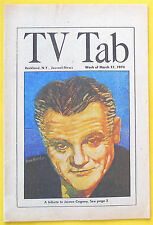 AMERICAN FILM INSTITUTE SALUTE TO JAMES CAGNEY Rockland TV Tab guide Mar 17 1974
