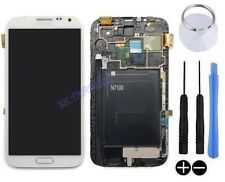 ECRAN LCD + VITRE TACTILE SUR CHASSIS POUR SAMSUNG GALAXY NOTE 2 II N7100 BLANC