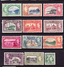 TRINIDAD & TOBAGO 1938-44  KGVI  PICTORIALS  PART SET  FU