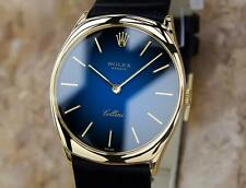 Rolex Cellini Swiss Made 18k Solid Yellow Gold Mens Luxury Dress Watch BB1