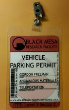 Portal  Parking Permit - Black Mesa Gordon Freeman  prop