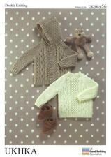 Double Knitting Pattern Sweater Jacket Wool 3 Months To 6 Years 46-66cm 18-26in.