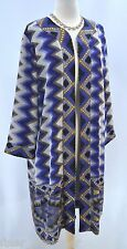 CHICOS OPEN poncho Chevron top DUSTER chiffon lined layer Chico 2 M L NEW $104