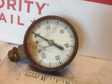 Pressure gauge, used.   USG 0-100, cracked glass.    Item:  8363