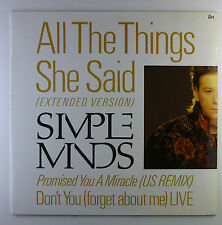 "12"" Maxi - Simple Minds - All The Things She Said (Extended Version) - L5793h"