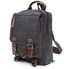 Sling Canvas Cross Body Messenger Bag Shoulder Backpack with Zipper Shoulder